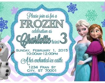 Frozen Printable Invitation - Frozen birthday