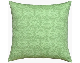 Green Damask Cotton Cushion / Pillow