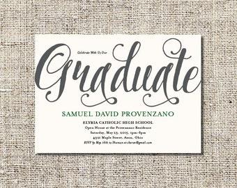 Graduation Party Invitation Printable   Digital File Graduation Invite   Customized Invitation   5x7 Invitation