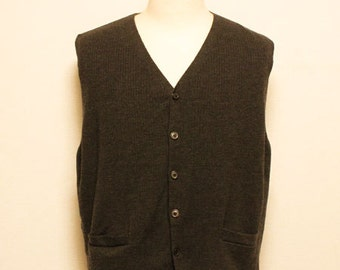 90's Brooksbrothers merinowool waist coat made in Italy