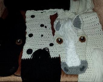 Horse Scarf, crocheted scarves, custom horse scarves