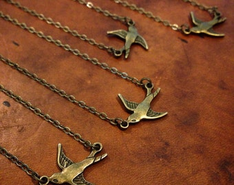 Dainty Bird Necklace