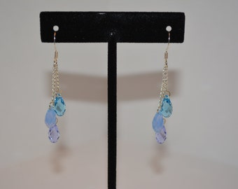Swarovski Crystal tear drop dangle earrings