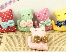 15pcs Fabric Animal Cat Sewing pattern DIY Decoration crafts supplies Accessories