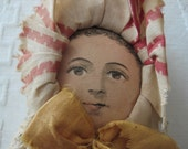 Vintage Doll With Painted Face