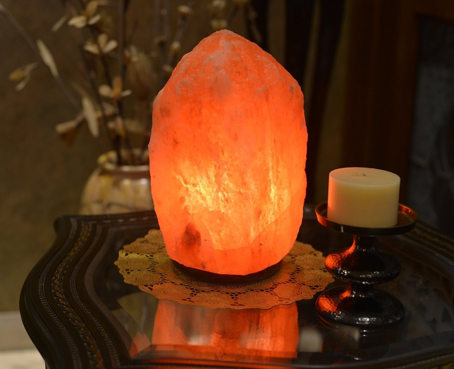 Salt lamp 6 to 7 by morrighansmagick on etsy for Hemingweigh himalayan salt lamp