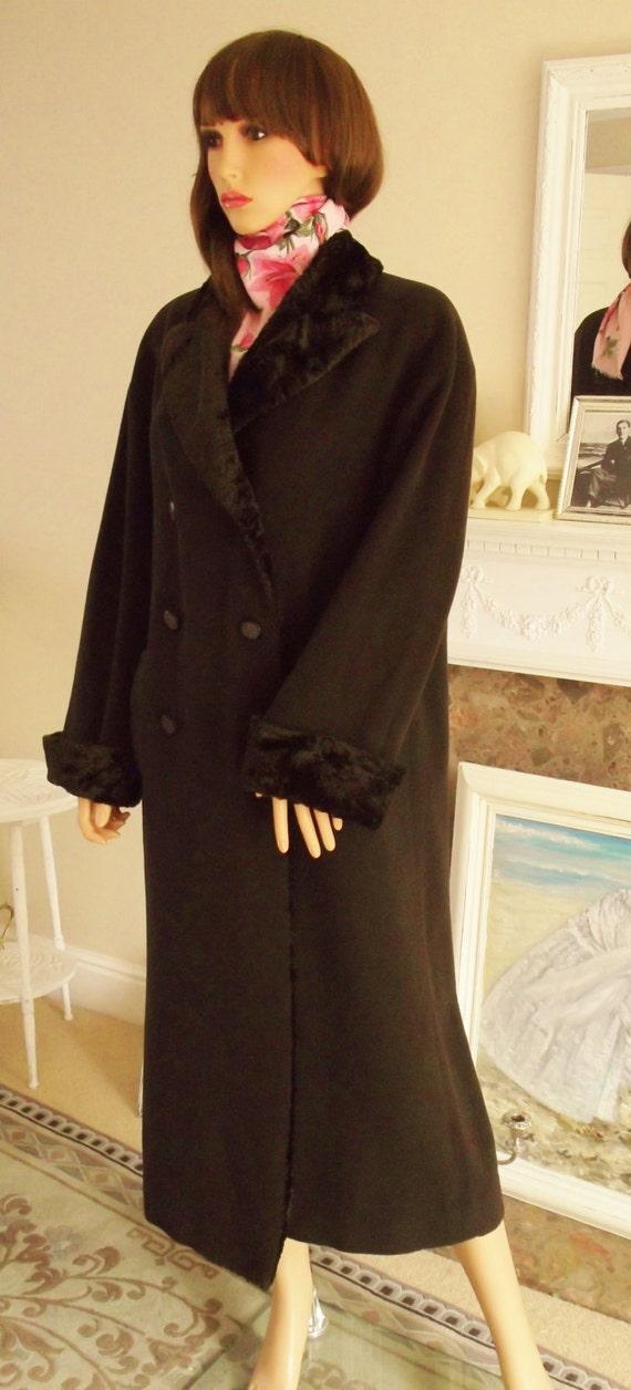 Vintage Mansfield wool coat Dark brown wool cashmere coat