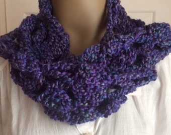 Scarves/winter/purple/women/accessories/gift/long/crochet scarf/neckwarmer/soft