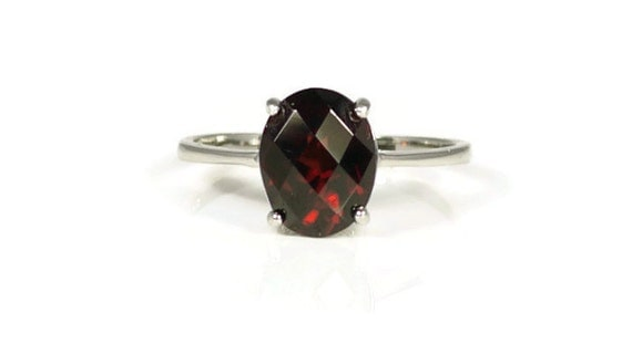 garnet ring solitaire ring promise ring engagement ring