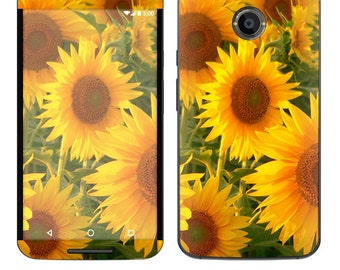 Skin Decal Wrap for Motorola Moto G (2nd) Google Nexus 6 Droid Turbo Moto X (2nd Gen) Droid Vinyl Cover Sticker Skins Sunflowers