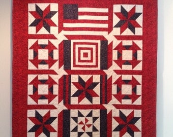 Patriotic Red, White and Blue Quilt
