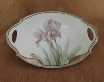 Vintage Signed Iris Bavaria Dish