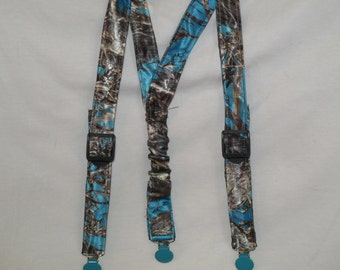 Camo Kids Suspenders.Made with BlueTrueTimber Camo.Great for Weddings,Easter or anytime.Choose size from the select options below.