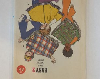 Vintage 70s Butterick 5899 Childrens Poncho  Pattern Size Medium 8 - 10