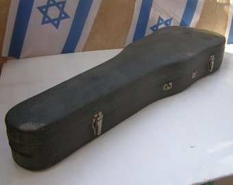 Vintage marvelous wooden violin case - Free Shipping