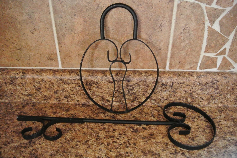 Wall Decor Vintage Keys : Vintage metal key lock wall decor