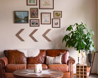 Set Of Three Wood Arrow Wall Art Chevron Home Decor Wall Hanging Wall