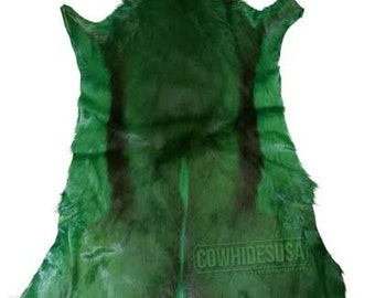 Dyed Forest Green Springbok Skin African Antelope  Large, Dyed Green springbok hide Stunning Gorgeous