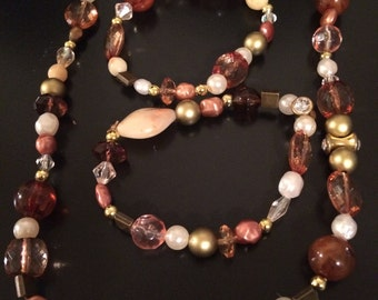 Tones of the Earth - earth tones jewelry, brown glass jewelry, copper jewelry, cream colored jewelry, blown glass jewelry, 2timothys16,