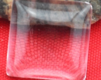 20pcs 15x15mm Square Clear Glass Cabochon Cover Cabs Charm Findings---A15mm