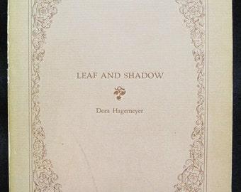 "Signed 1942 Dora Hagemeyer ""Leaf and Shadow"" Book of Poems"