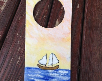 PRIVACY PLEASE! Hand Painted Door Hanger