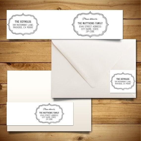 Printable Address Label Template for A7 Envelopes - Return Address ...