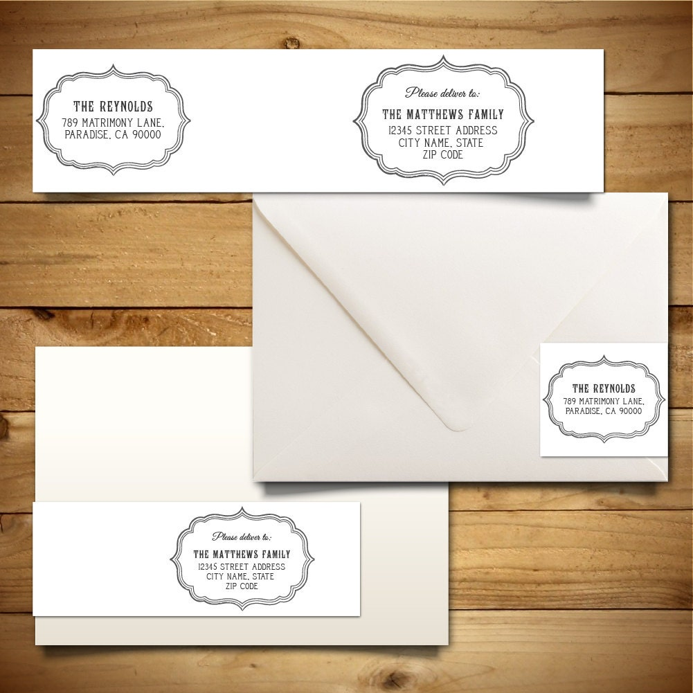 printable address label template for a7 envelopes return