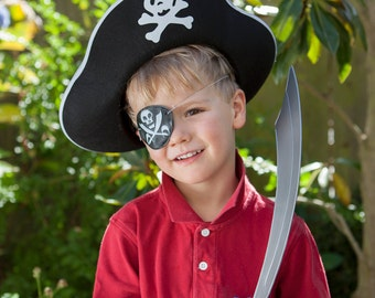 Pirate Party Favors: Pirate hat, sword and eye patch