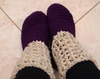 Crochet Waffle Slippers