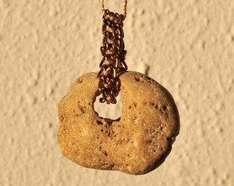 Stone Pendant Necklace- Contemporary Jewelry