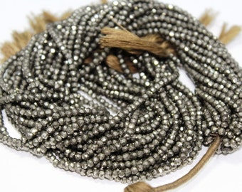 "AAA quality pyrite beads micro pyrite faceted rondelle beads size 2.5mm-3mm or 3-4mm-13.5""inch"