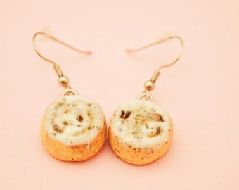 Silver Sweet Cinnamon Rolls Earrings