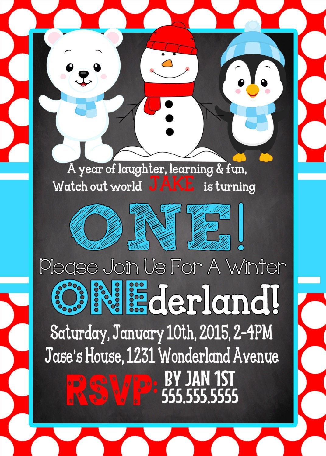 winter wonderland birthday party invitation unique winter themed
