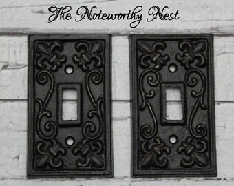 Iron switch plate etsy - Wrought iron switch plate covers ...