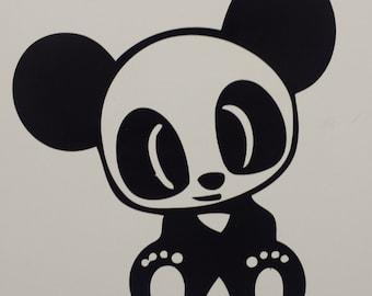 Cute Panda Decal, Any color, Any size, Panda sticker, Panda bear, Pandas, car decal, Wall decal