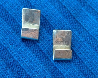 Embossed Sterling Earrings