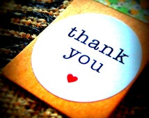 Thank You Sticker, Labels, Wedding Favour Thank you Stickers, Envelope Seals (30mm in diameter)