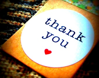 Thank You Labels, Wedding Favour Thank you Stickers, Envelope Seals (30mm in diameter)
