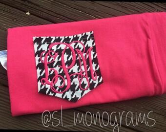 SALE Houndstooth Monogram Pocket Shirt