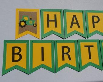 Down On The Farm Birthday Banner