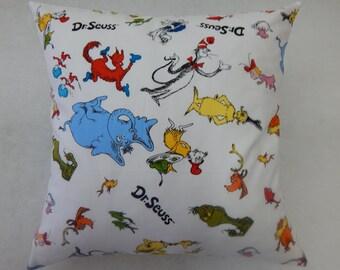 Dr Seuss Characters Celebration Nursery Cushion Cover
