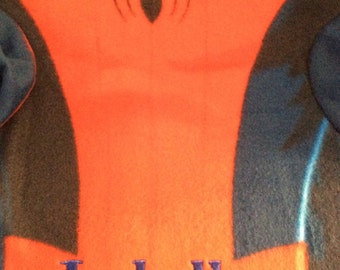 SPIDER Hero Youth Comfy Blanket Throw with Sleeves Monogrammed