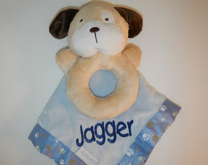 Baby Boy Carter's Puppy Security Blanket Blanky Lovey - Personalized