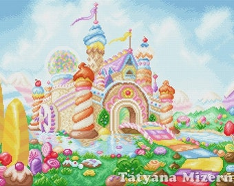 "Cross stitch pattern ""Honeydukes"""