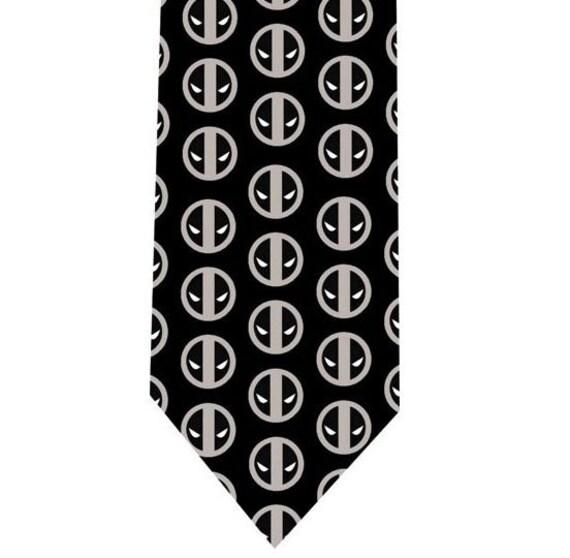 deadpool tie necktie model 1 by topties on etsy