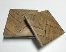 Wood Design Coasters - Wood Decor - Wood Home Decor - Drink Coasters - Tile Coasters - Ceramic Coasters - Table Coasters On Sale