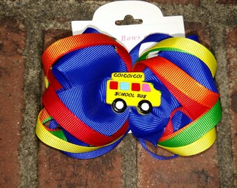 School bus hair bow is perfect for all seasons and girls of all ages!