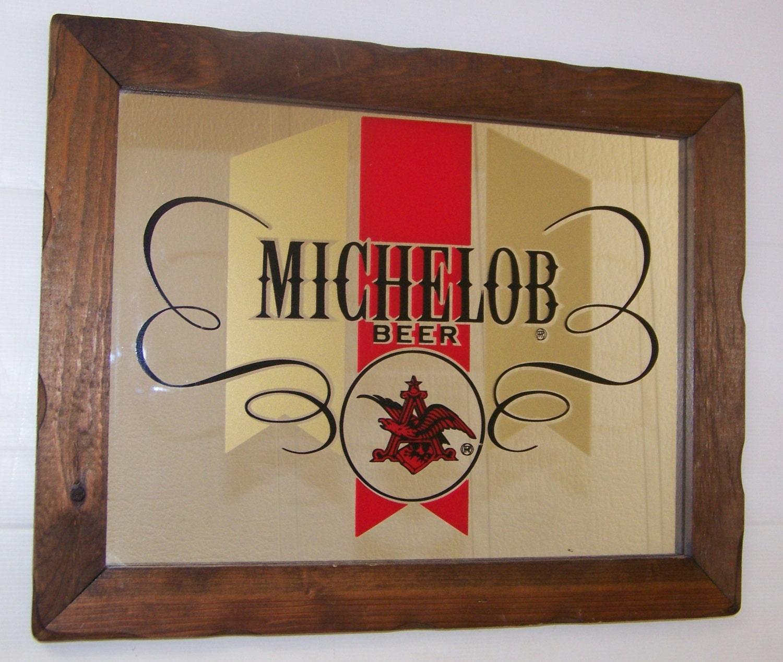 Vintage Rare Michelob Beer Bar Mirror Advertising Anheuser