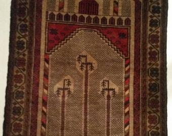 Afghanistan Hand Woven Prayer Rug